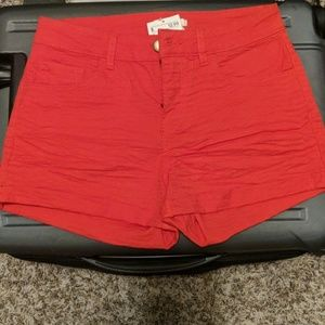 Size 2 H & M Shorts Bright Red brand new